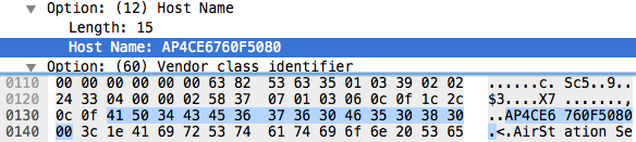 Buffalo WLAE-AG300N gets the length of the DHCP name wrong and inserts an extra NULL character.