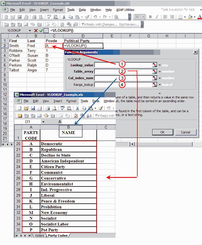Vlookup Example Spreadsheet Tutorial Productivity