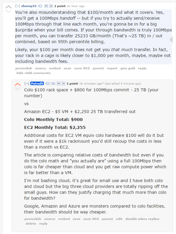 The Ridiculous Bandwidth Costs of Amazon, Google and