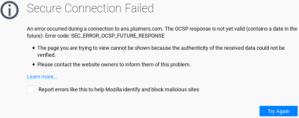 SEC_ERROR_OCSP_FUTURE_RESPONSE