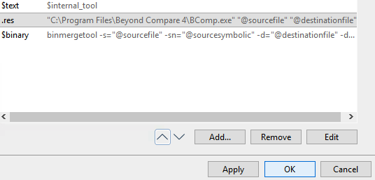 Diffing binary files in PlasticSCM through Beyond Compare « The