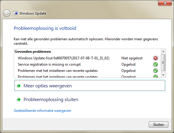 Windows 7 Home Premium SP1 update throwing 8E5E03FB and later