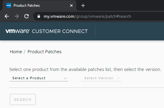 VMware HomeP/roduct Patches